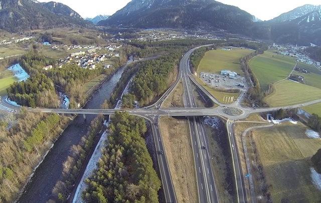 Highway Bridge Thusis Graubünden Switzerland