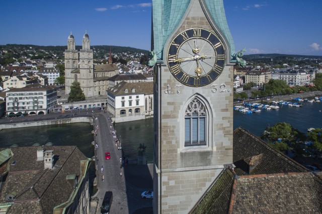 Grossmünster & Fraumünster, Zurich, Switzerland