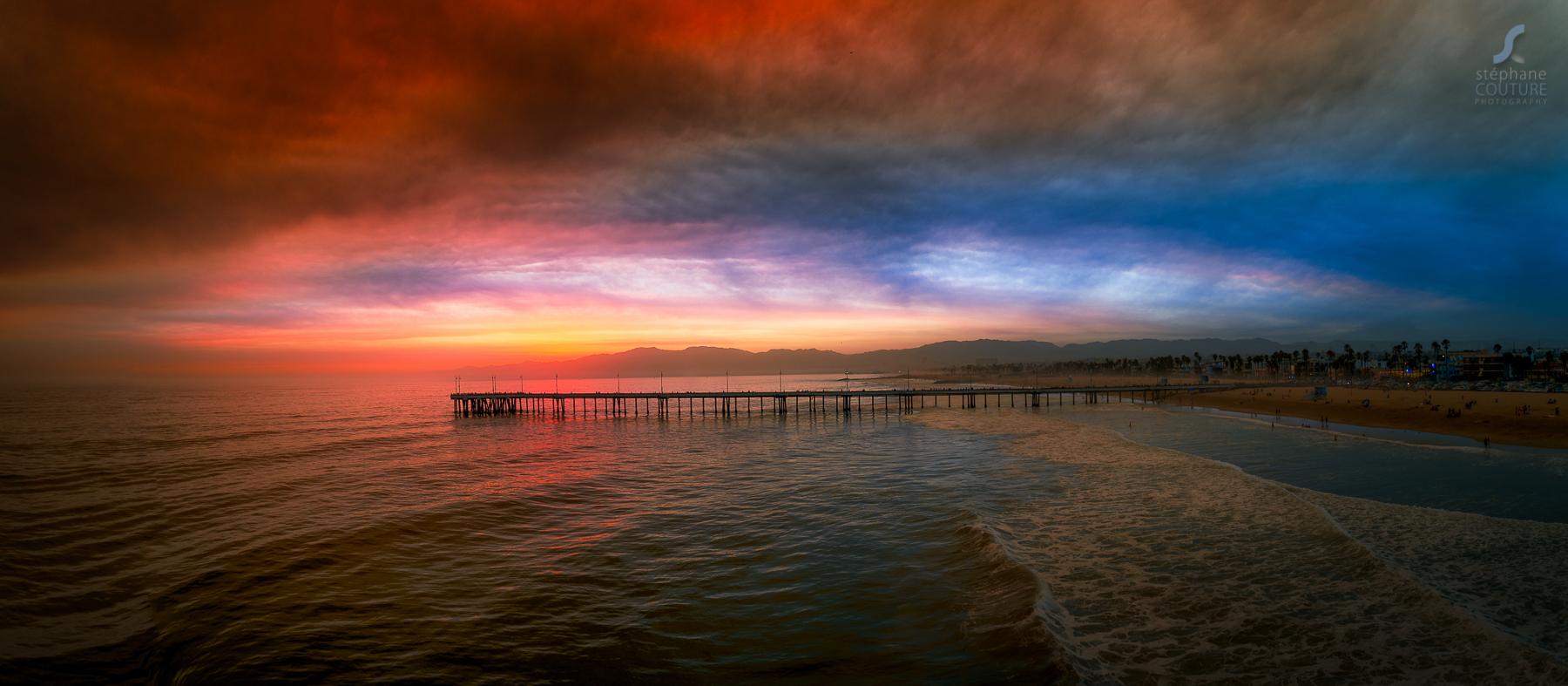 Wild fire sunset