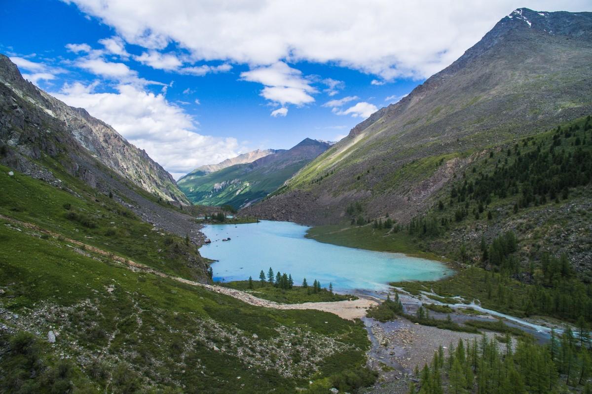Shavlinskie lake, Altai