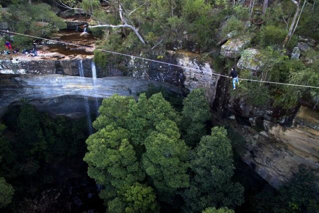 royal national park waterfall NSW Australia