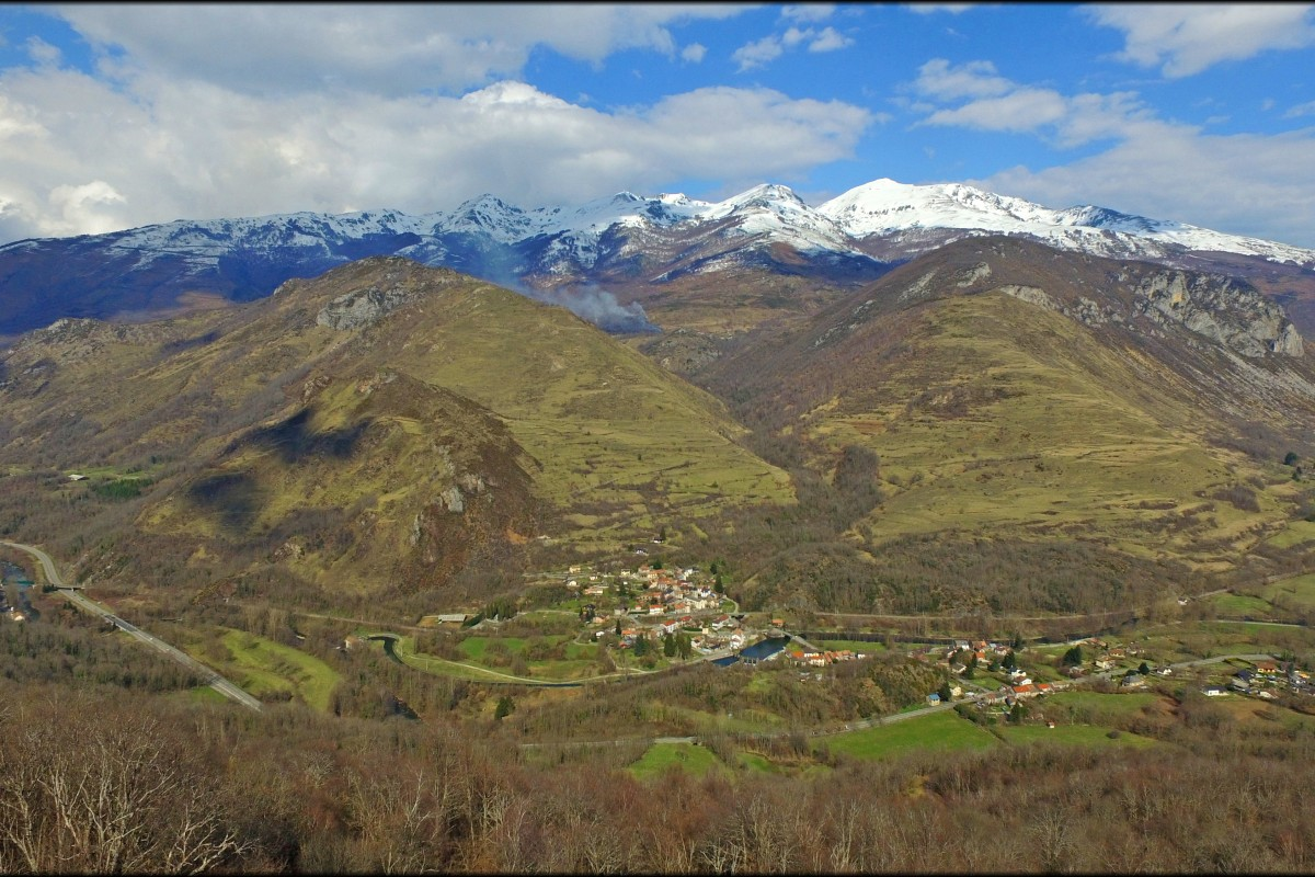 Surrounding mountains of Luzenac, Pyrenees, France