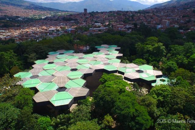 Medellin dronestagram for Bodas en el jardin botanico de medellin