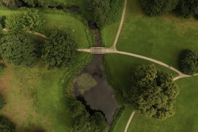 Castle gardens aldershvile in Denmark