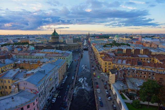 Griboyedov Canal, Saint-Petersburg, Russian Federation