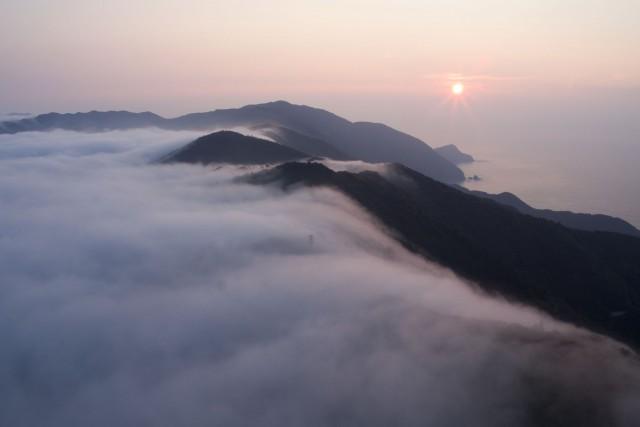 Cloud sea, Okitsu, Shimanto, Takaoka District, Kochi Prefecture, Japan