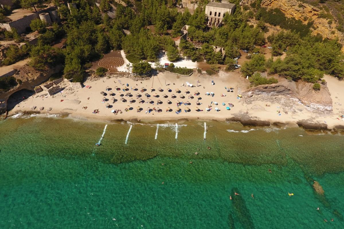 Metalia beach in Limenaria Thassos Greece !!!  Dronestagram