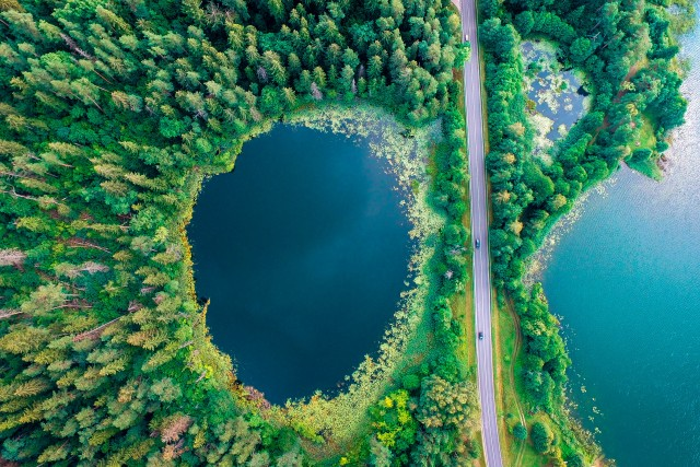 Marvel Lithuania lakes.
