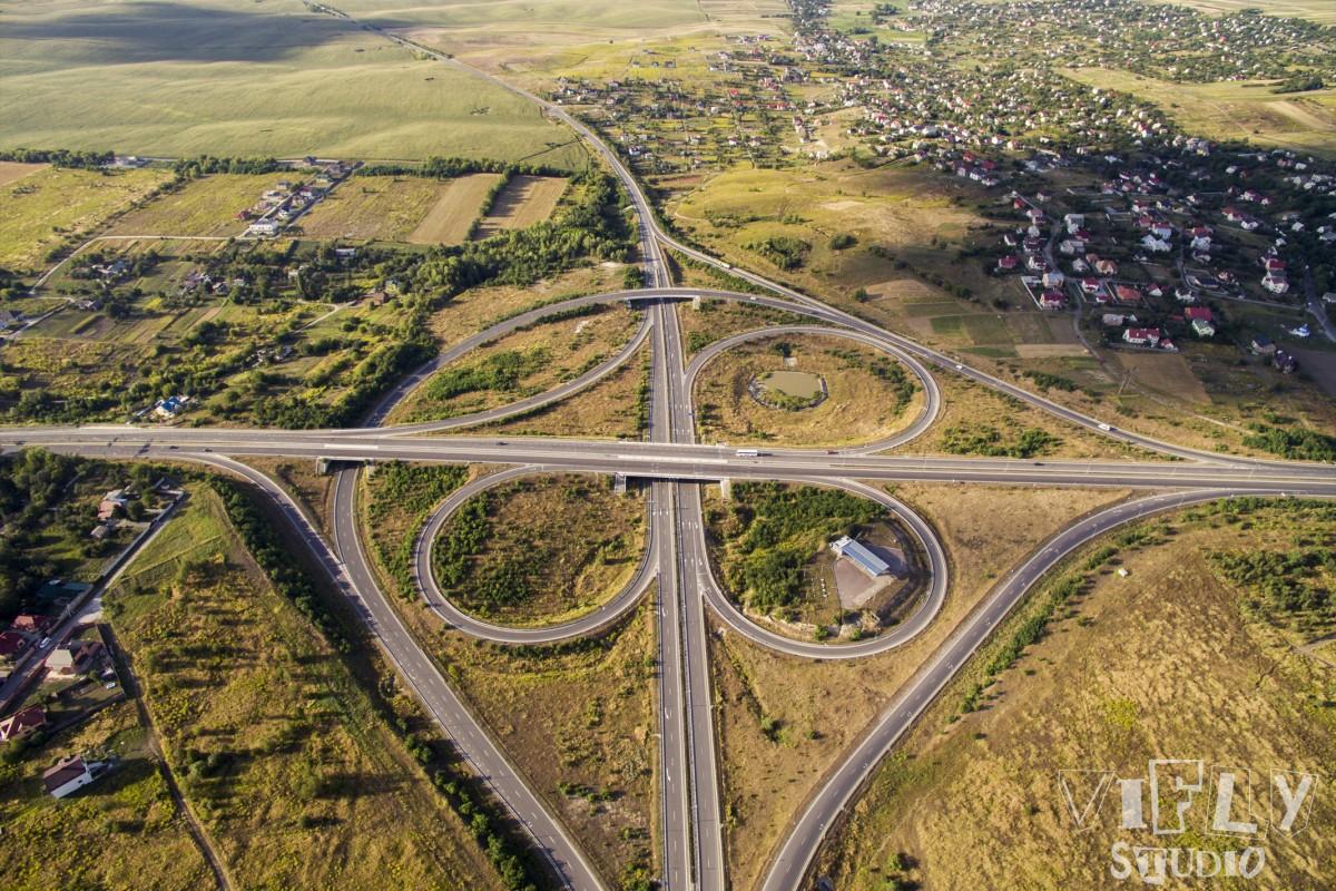 Roundabout in Kyiv, Rivne, Ukraine
