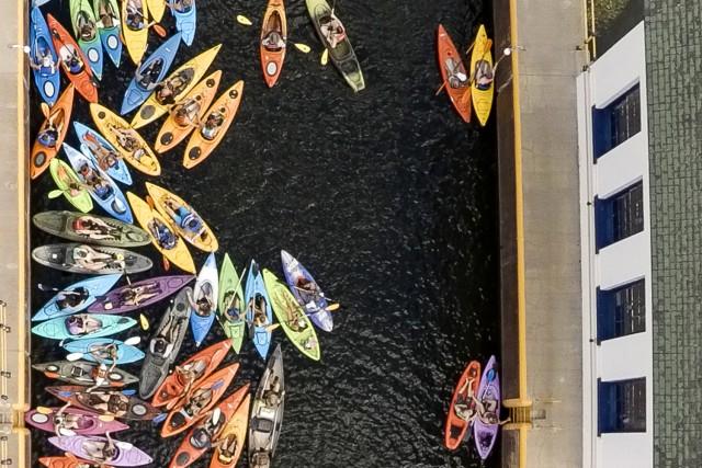 Oswego River, Oswego, NY, USA