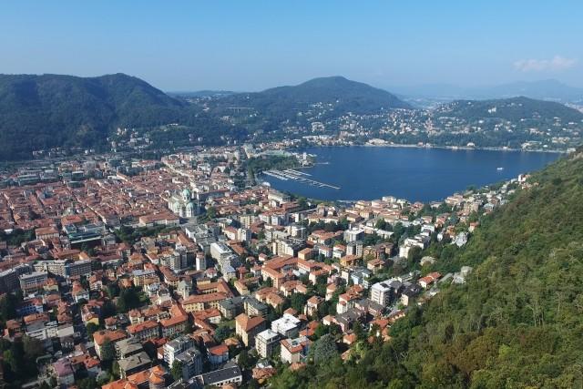 City of Como (Italy) from Eremo di San Donato