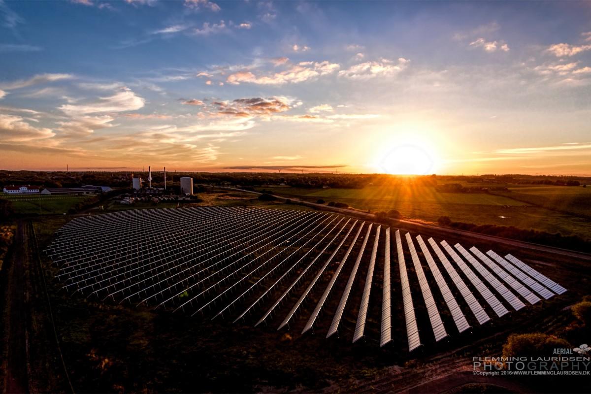 Solar Power Plant in Denmark