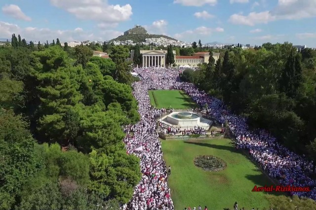 8th Greece Run for the Cure-Aerial Rizikianos.