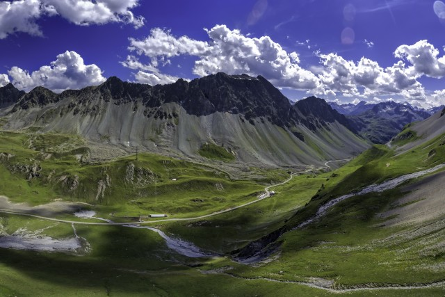 Albula Pass, Graubuenden, Switzerland