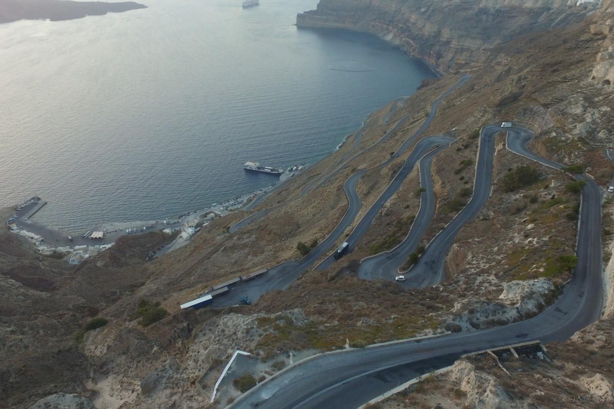 Port Athinios, Santorini, Greece