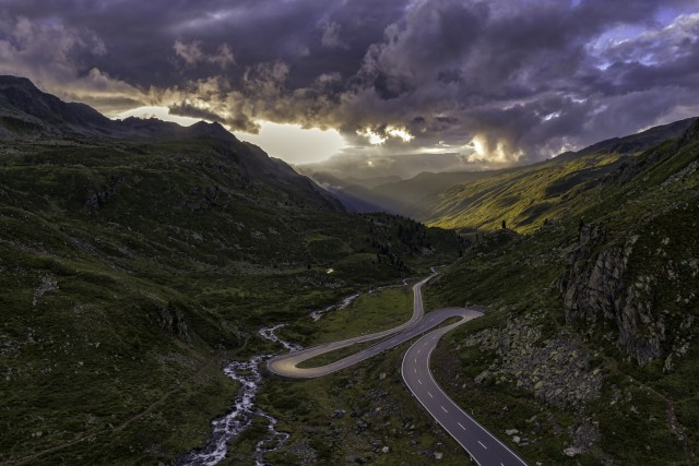 Fluela Pass, Graubuenden, Switzerland