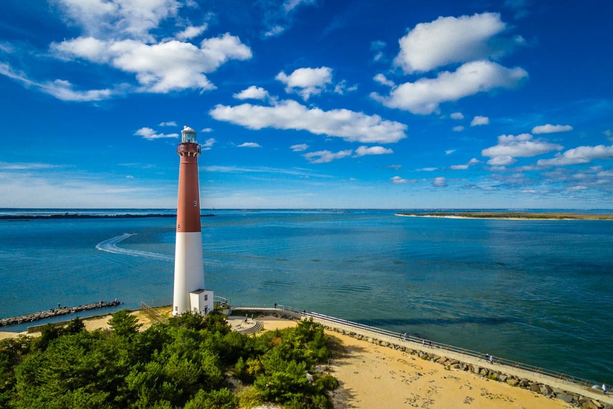 """barnegat lighthouse Barnegat Light, NJ 08006 39°45'51"""" N 74°6'19"""" W"""