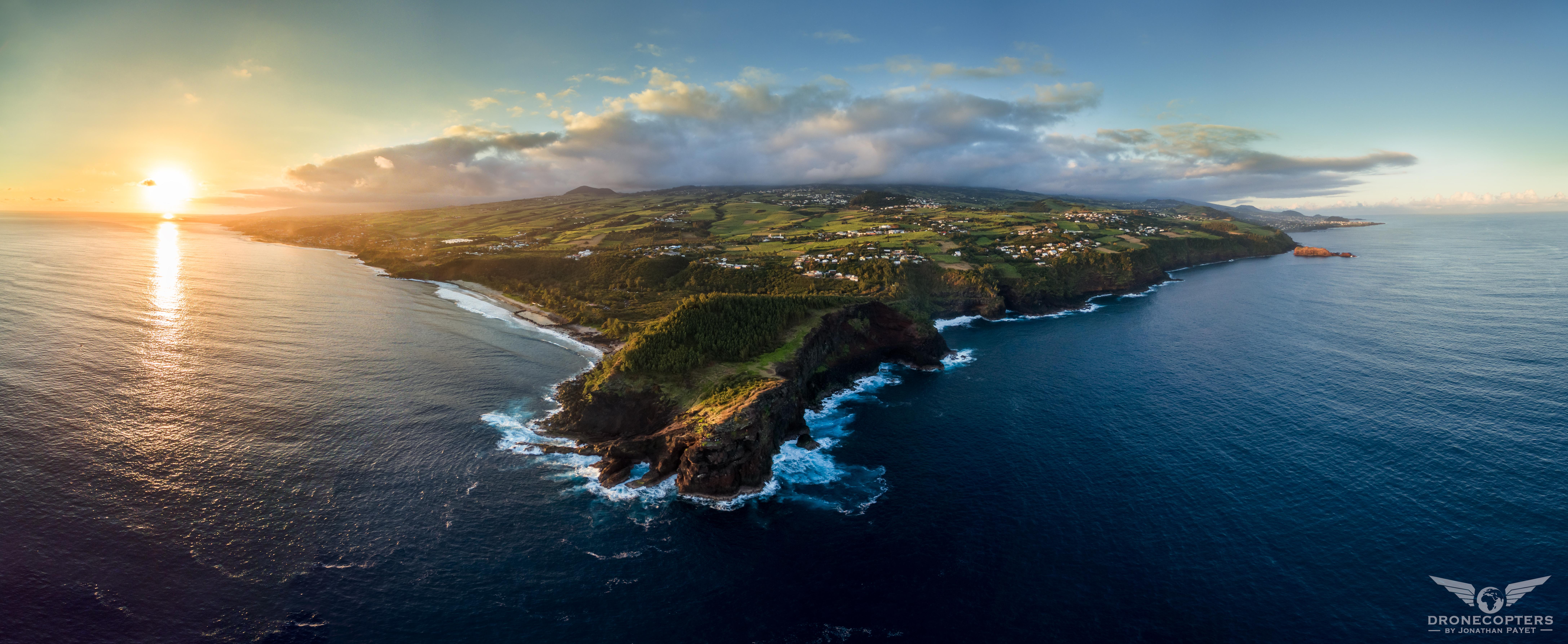 Reunion Island panorama