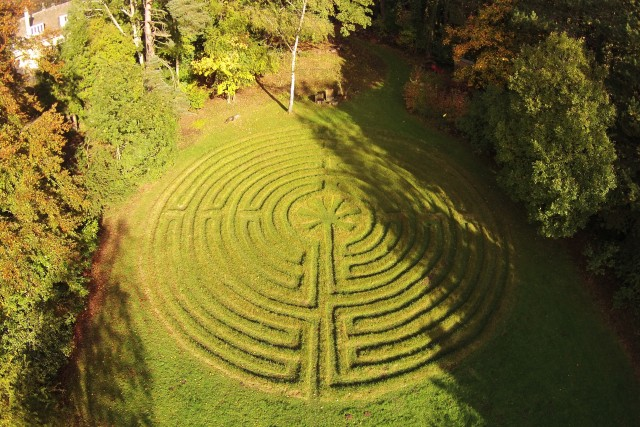 The Labyrinth, Shepherds Dene, Riding Mill, Northumberland, UK