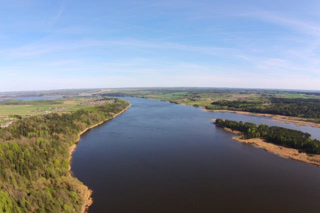 Islands in Kauno marios, Nemunas, Arlaviškėse-Tursone, Kaunas, Lithuania
