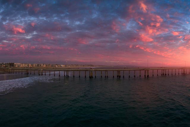 Pink Glow over the Venice Pier