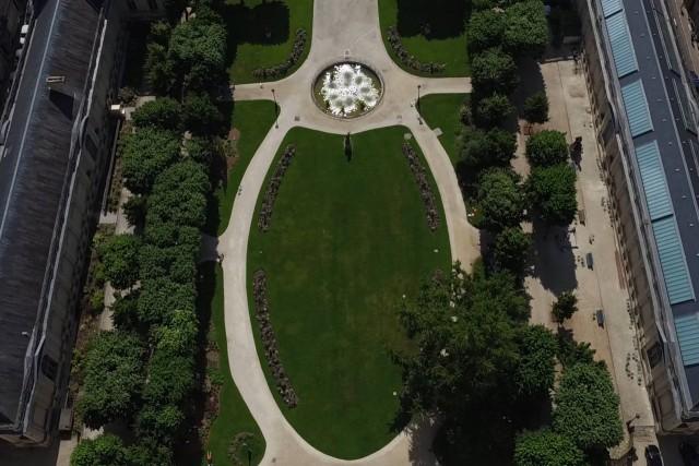 les jardons de l'hôtel de ville de Bordeaux