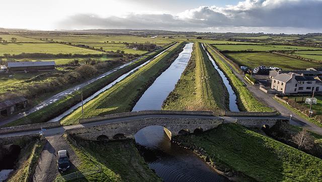 Afon Cefni, Malltraeth, Anglesey, North Wales, UK