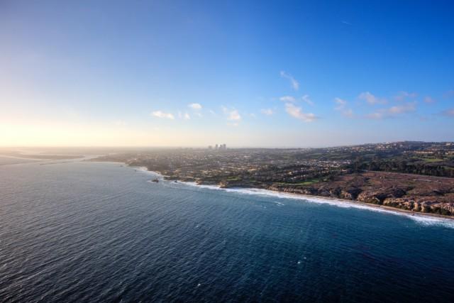 Coastline from Newport Beach, CA, USA