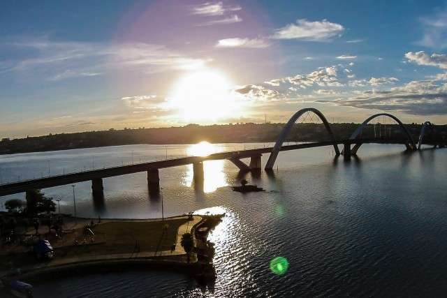 Lago paranoá, Ponte JK, Brasilia, Brasil