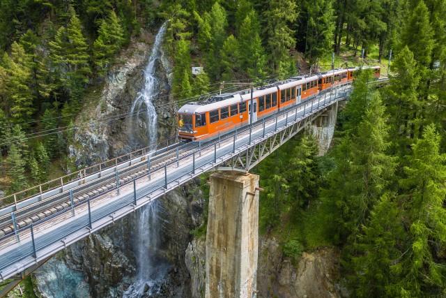 Findelbachbridge, Zermatt, Wallis, Switzerland