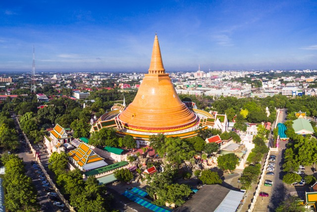 Phra Pathommachedi is a stupa in Thailand.