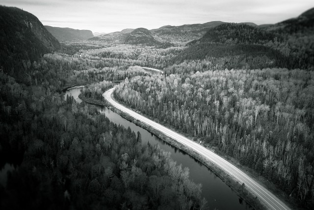 Route de Tadoussac, Qubec, Canada