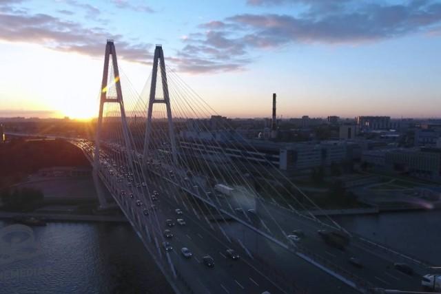 """Obuhovskiy bridge, Saint Petersburg, Russian Federation"