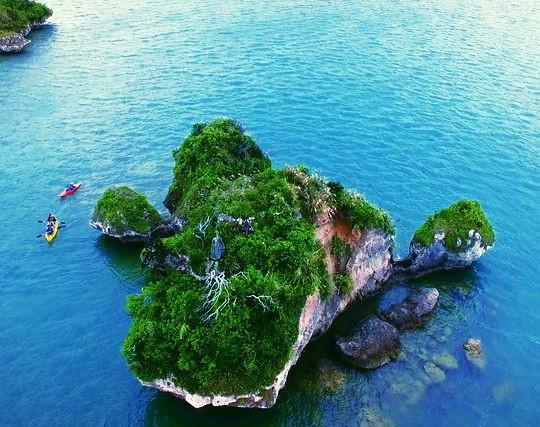 kayaking at Haneji sea