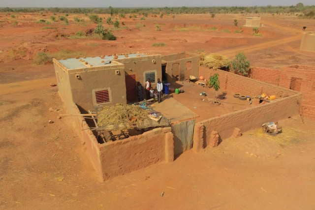 Mr and Mrs Goudiboaba's house in Burkina Faso / West Africa