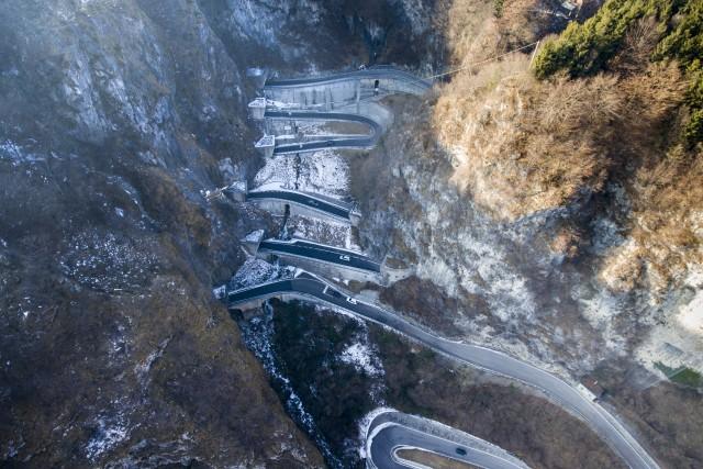 San Boldo Pass, Veneto, Italy