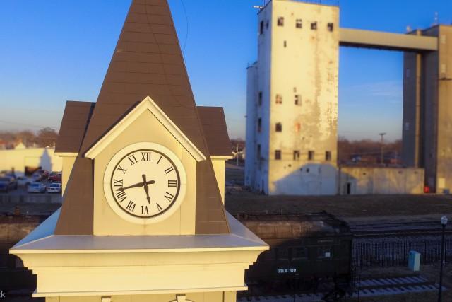 Depot Park Clock Tower, Moberly, Missouri, USA