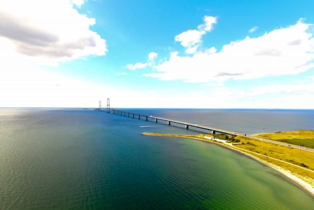 Great Belt Brigde in Denmark