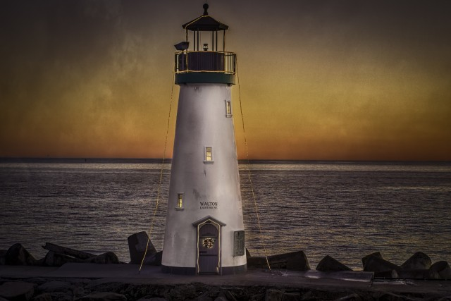 Walton Lighthouse, Santa Cruz, California, USA