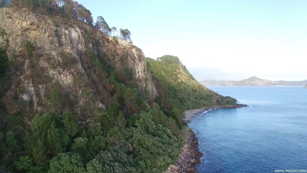 cathedral cove hahei new zealand dronestagram. Black Bedroom Furniture Sets. Home Design Ideas
