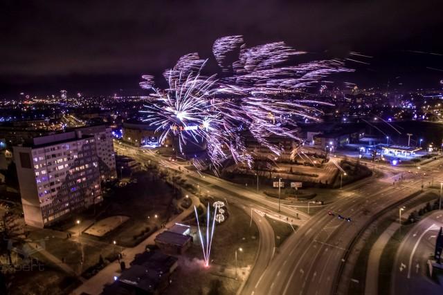 Happy New Year 2017, Lubin, Poland