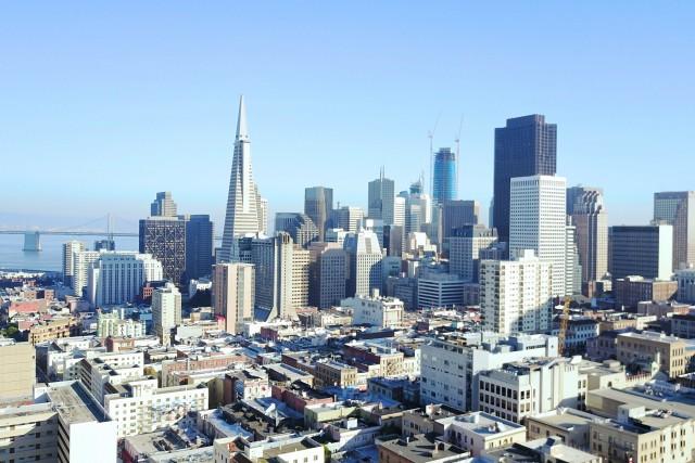 North Beach viewing FiDi San Francisco, California