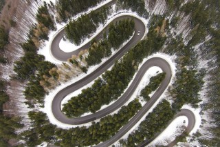 Mountain road pass