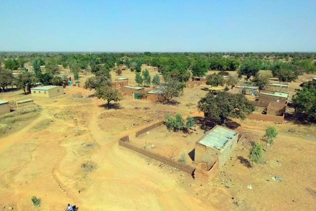 West African village