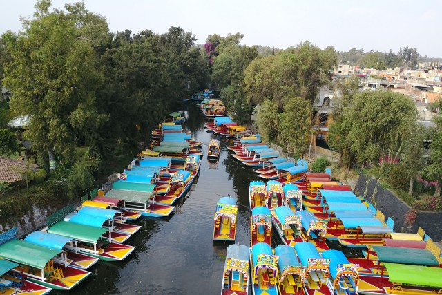 Xochimilco Mexico seen from above