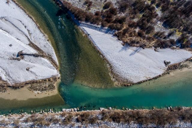 Piave River, Belluno, Italy