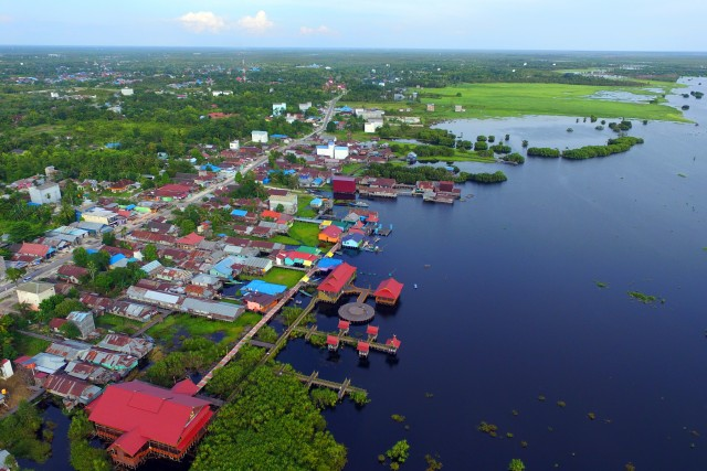 Dermaga Kereng Bangkirai, Palangka Raya, Central Kalimantan, Indonesia