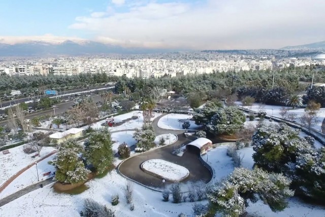 Greece, Snowy…in Athens-Aerial Rizikianos.