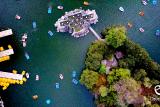 Kayaks in Chapultepec lake