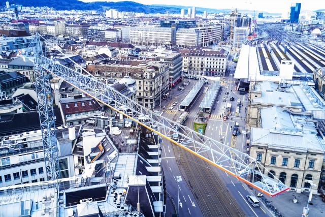 building crane in Zurich